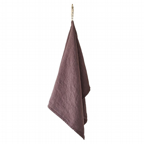 Linen Tea Towel - Mauve